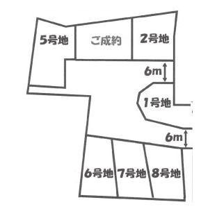【区画図】伏見区桃山町泰長老 建築条件付売土地