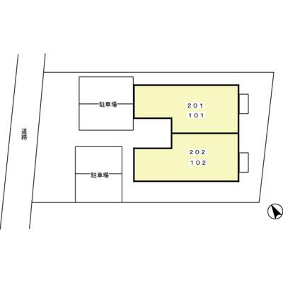【区画図】セジュール美川