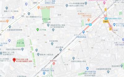 【地図】 レジュールアッシュ福島fino