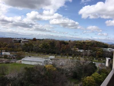 バルコニーからの眺望です。 花博記念公園が目の前ですので、広大な緑が望め見晴らしも良好です♪