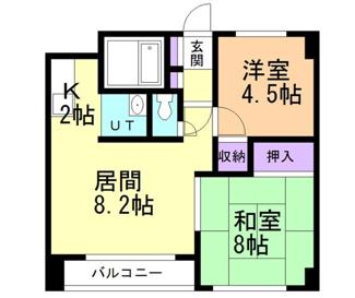 【間取り】札幌市白石区本郷通二丁目一棟マンション
