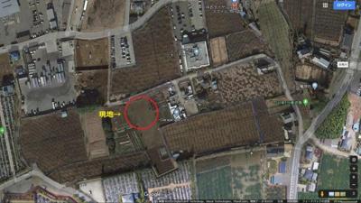 【地図】鎌ケ谷市中沢 畑