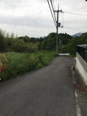 東側の前面道路(南側から)