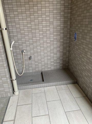 ワンちゃん用足洗い場