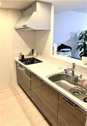 食洗器付きのシステムキッチン。シャワー付き水洗。撮影:2020.3.6