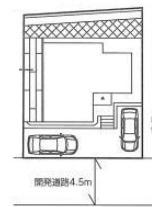 【区画図】茅ヶ崎市芹沢 築未入居戸建