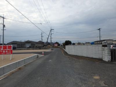 【前面道路含む現地写真】瀬戸内市長船町福岡 Ⅱ期