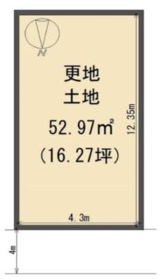 【区画図】八尾市美園町4丁目新築一戸建