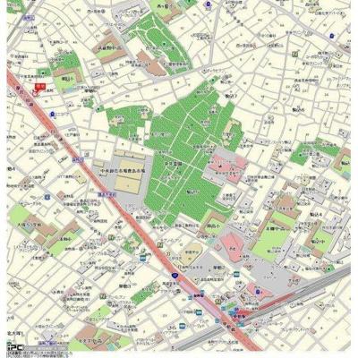 【地図】フロール巣鴨