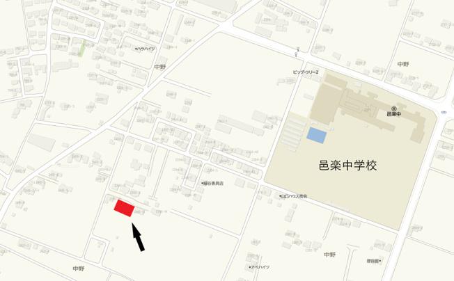 【地図】売地:邑楽町中野125坪