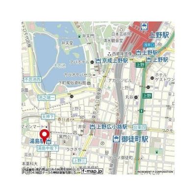 【地図】パレステュディオ御茶ノ水湯島駅前