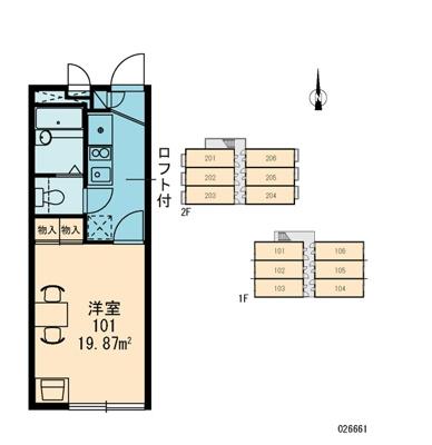 【区画図】レオパレス天台