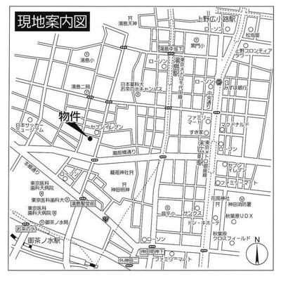 【地図】グランレ・ジェイド御茶ノ水