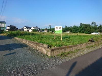 【外観】売土地 四倉町上仁井田字蒲沼