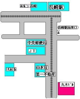 【地図】丸木ビル