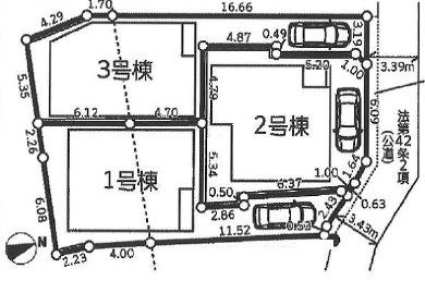 【区画図】新築 茅ヶ崎市南湖4丁目2期 1号棟