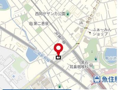 【地図】魚住貸家