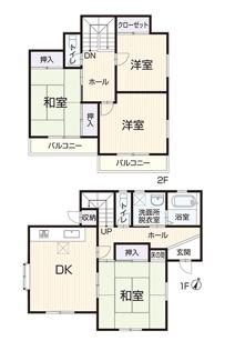 内外装リフォームでとても綺麗なご住宅です。平成7年築4DK