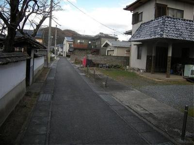 【前面道路含む現地写真】岡山市北区足守