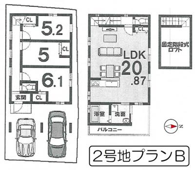 【外観】京都市山科区音羽前出町 2区画 2号地