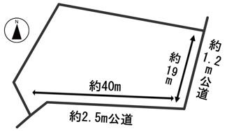 【区画図】54247 岐阜市木田土地