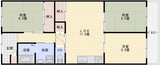 ハイツ藤(柏原市 堅下駅) 3LDK