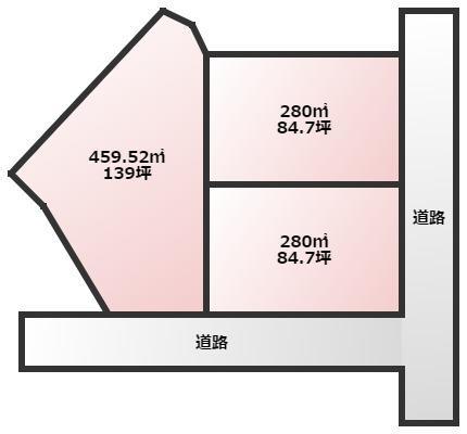 【区画図】漆生売地