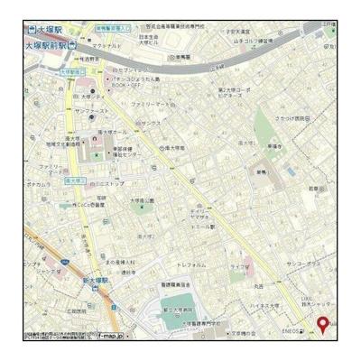 【地図】サンパティオ文京千石