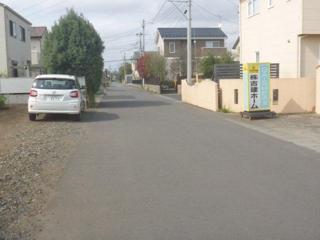 【前面道路含む現地写真】ひたちなか市後台土地