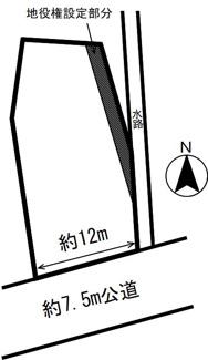 【区画図】54817 岐阜市六条北土地