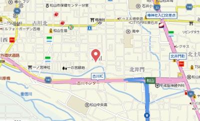 【地図】フォブール北井門 B棟