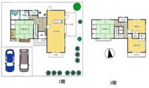 ◆全居室6帖以上◆並列2台駐車可能◆けやき坂3丁目中古戸建♪の画像