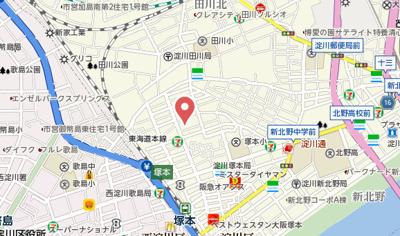 【地図】ラ・ルミエール塚本