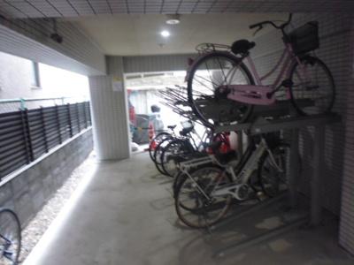 自転車置場。