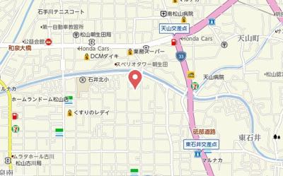 【地図】Belle Lead西石井
