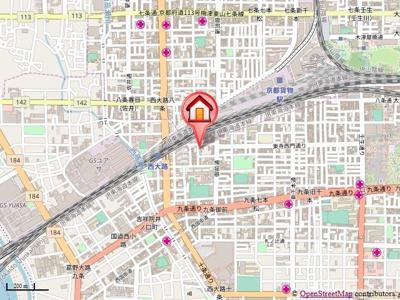 【地図】シボラ西大路