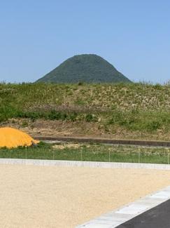 讃岐富士を一望できます。