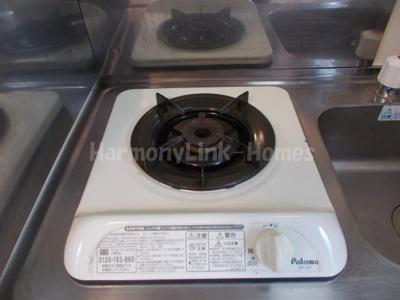 ライフピアフォルテのキッチンでお料理をお楽しみください(1口ガスコンロ)☆