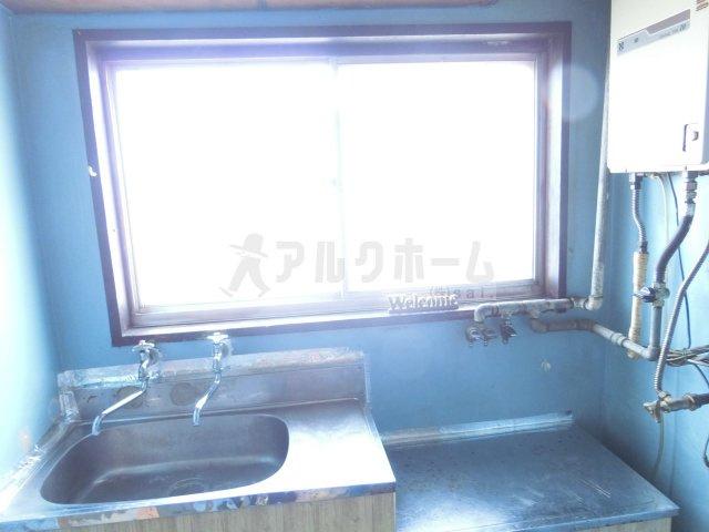 阪南ジャンボハイツ(柏原市石川町 道明寺駅) キッチンに窓