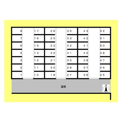 【区画図】五丁田駐車場