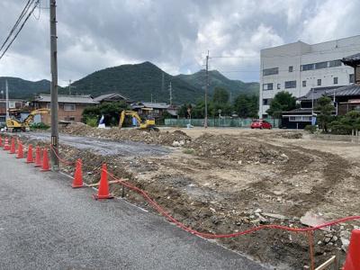 【前面道路含む現地写真】和田町分譲地⑥号地
