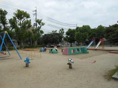 市場池公園。遊具と広場がありいろんな楽しみ方で過ごすことのできる公園です。