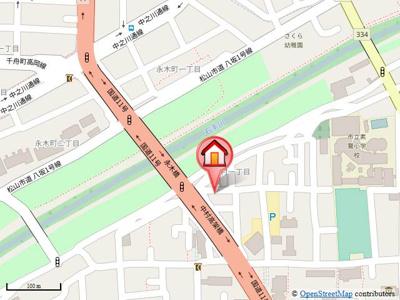 【地図】シャーメゾン中村・