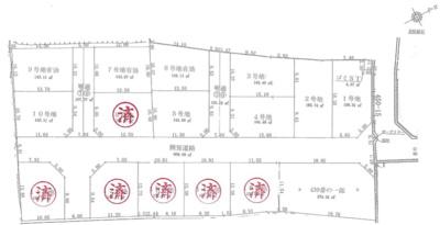 【区画図】四郷町山脇分譲地 2号地