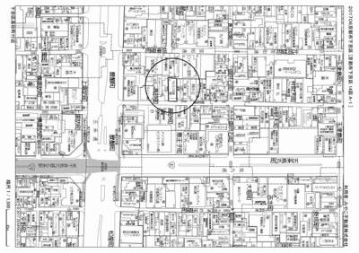 【地図】2003年!下京区のRC造一棟収益マンション