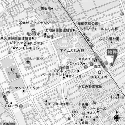 【地図】メローウィンドふじみ野