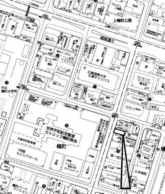 【地図】広島市中区橋本町 売ビル