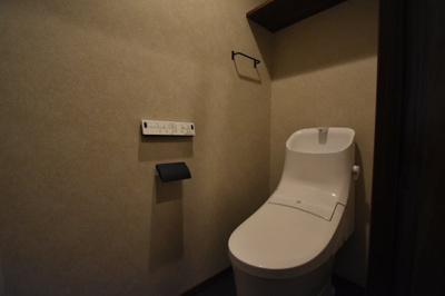 トイレもタンクレスです。