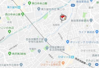 【地図】レオパレスアビィロード(42913-101)