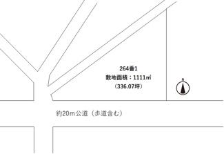 【区画図】笠間市吉岡 売地 1080万円